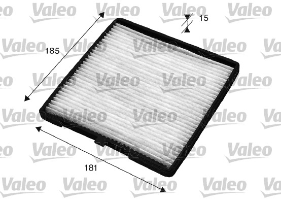 Filtre, air de l'habitacle - VALEO - 715524