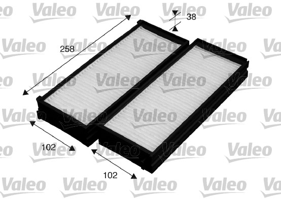 Filtre, air de l'habitacle - VALEO - 715529