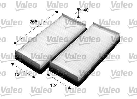 Filtre, air de l'habitacle - VALEO - 715531