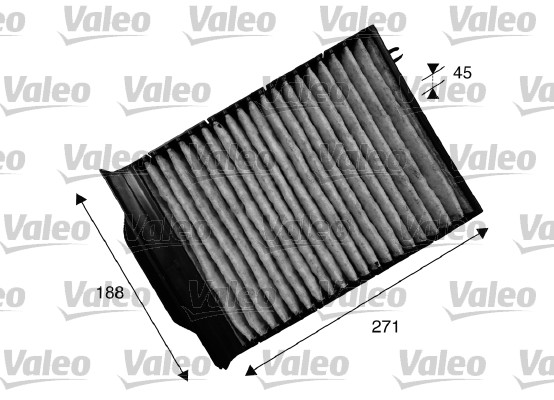 Filtre, air de l'habitacle - VALEO - 715539