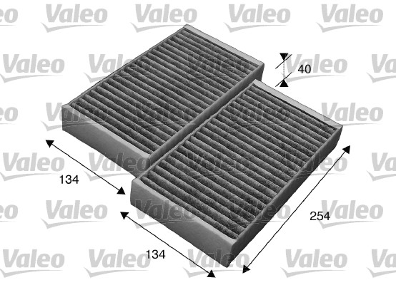 Filtre, air de l'habitacle - VALEO - 715544