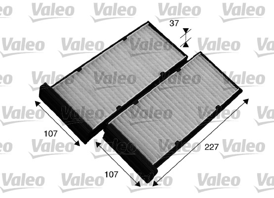 Filtre, air de l'habitacle - VALEO - 715548