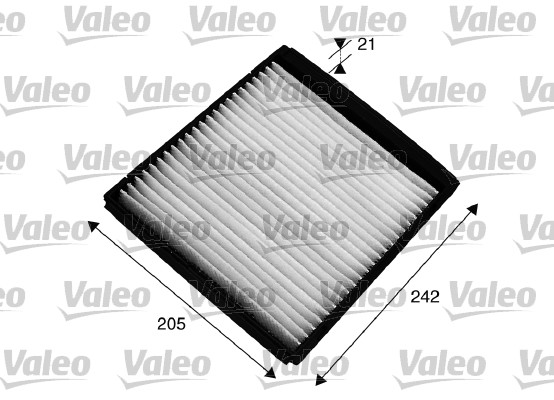 Filtre, air de l'habitacle - VALEO - 715549