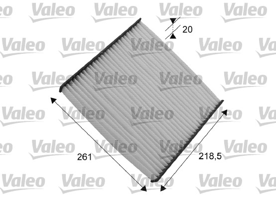 Filtre, air de l'habitacle - VALEO - 715552