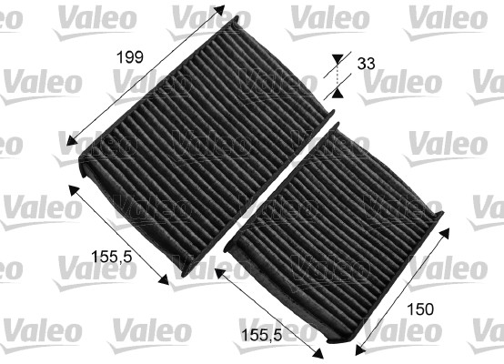 Filtre, air de l'habitacle - VALEO - 715557