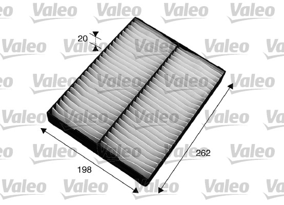 Filtre, air de l'habitacle - VALEO - 715564