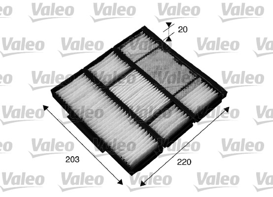 Filtre, air de l'habitacle - VALEO - 715565