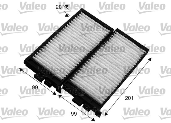 Filtre, air de l'habitacle - VALEO - 715566