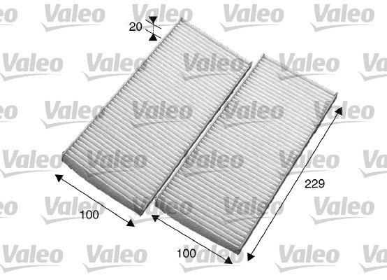 Filtre, air de l'habitacle - VALEO - 715569