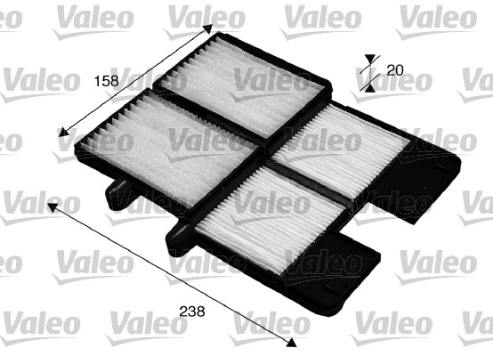 Filtre, air de l'habitacle - VALEO - 715572