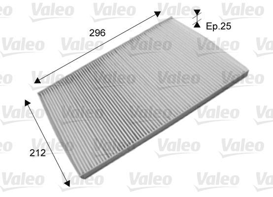 Filtre, air de l'habitacle - VALEO - 715573