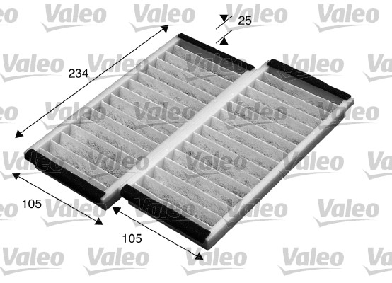 Filtre, air de l'habitacle - VALEO - 715574