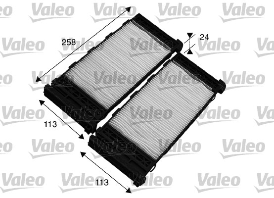 Filtre, air de l'habitacle - VALEO - 715575