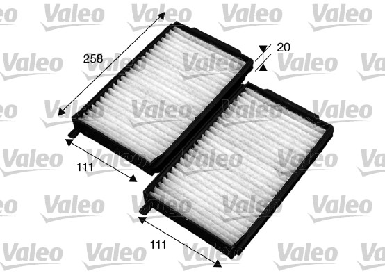 Filtre, air de l'habitacle - VALEO - 715576