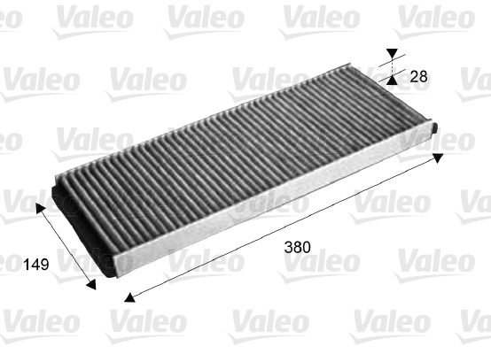 Filtre, air de l'habitacle - VALEO - 715578