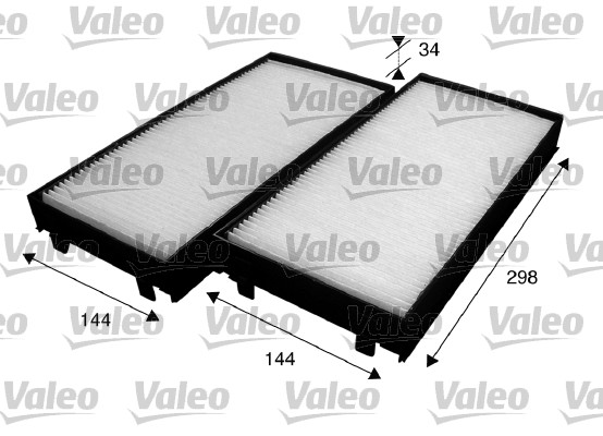 Filtre, air de l'habitacle - VALEO - 715583