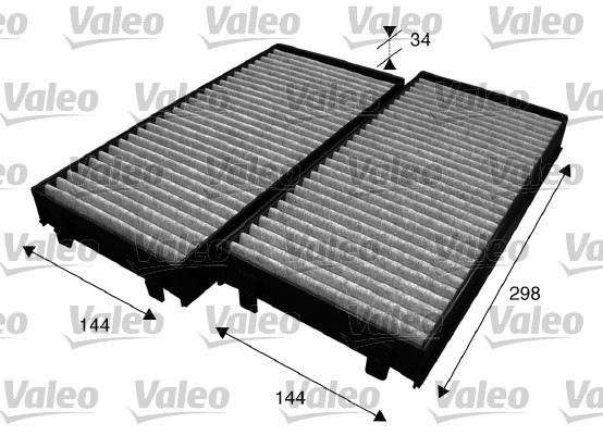 Filtre, air de l'habitacle - VALEO - 715584