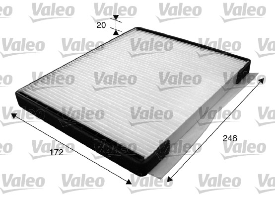 Filtre, air de l'habitacle - VALEO - 715592