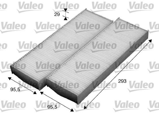 Filtre, air de l'habitacle - VALEO - 715593