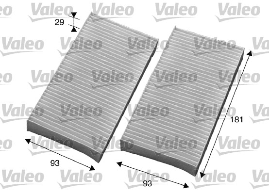 Filtre, air de l'habitacle - VALEO - 715594