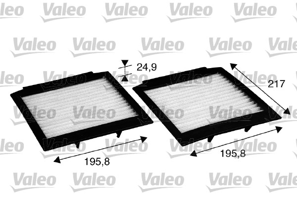 Filtre, air de l'habitacle - VALEO - 715598