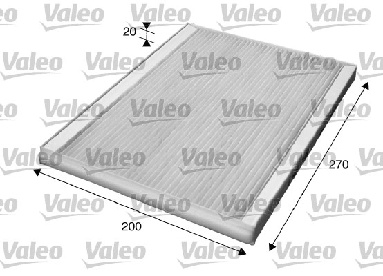 Filtre, air de l'habitacle - VALEO - 715609