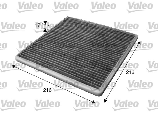 Filtre, air de l'habitacle - VALEO - 715619