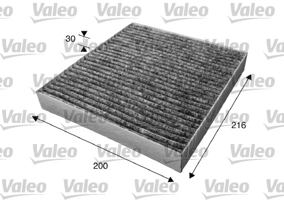 Filtre, air de l'habitacle - VALEO - 715623