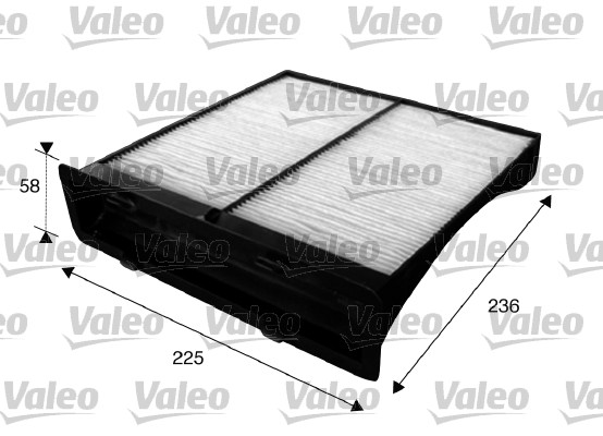 Filtre, air de l'habitacle - VALEO - 715625