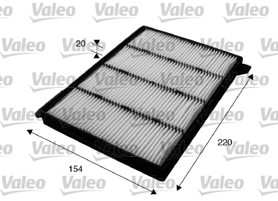 Filtre, air de l'habitacle - VALEO - 715626