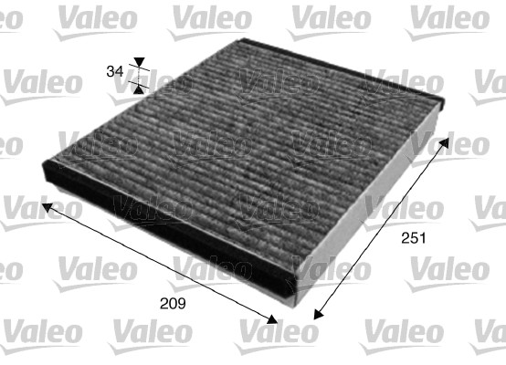 Filtre, air de l'habitacle - VALEO - 715628