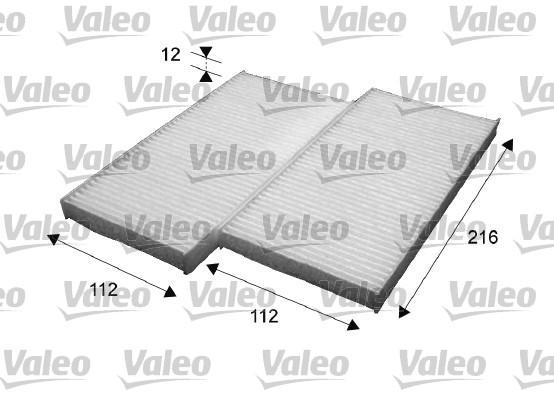 Filtre, air de l'habitacle - VALEO - 715639
