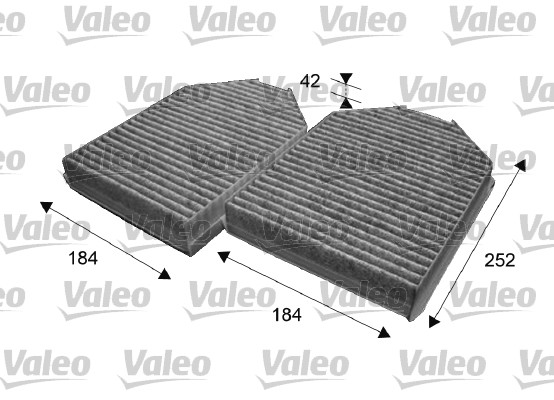 Filtre, air de l'habitacle - VALEO - 715640
