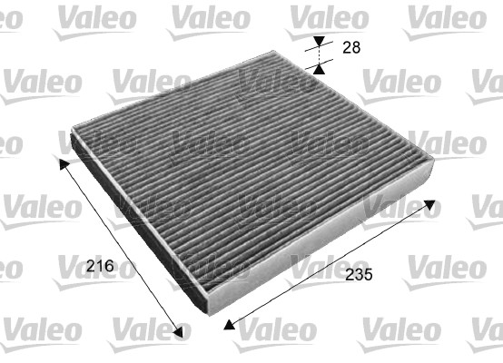 Filtre, air de l'habitacle - VALEO - 715641