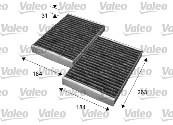 Filtre, air de l'habitacle - VALEO - 715643