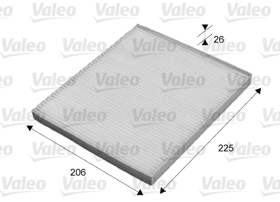 Filtre, air de l'habitacle - VALEO - 715645