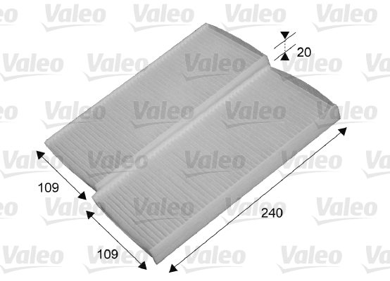 Filtre, air de l'habitacle - VALEO - 715649