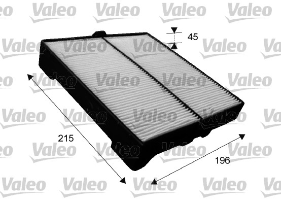 Filtre, air de l'habitacle - VALEO - 715651