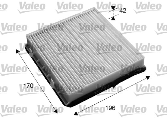 Filtre, air de l'habitacle - VALEO - 715653