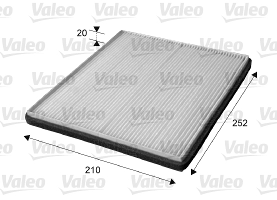 Filtre, air de l'habitacle - VALEO - 715655