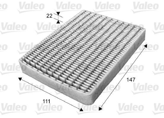 Filtre, air de l'habitacle - VALEO - 715656