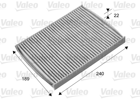Filtre, air de l'habitacle - VALEO - 715661