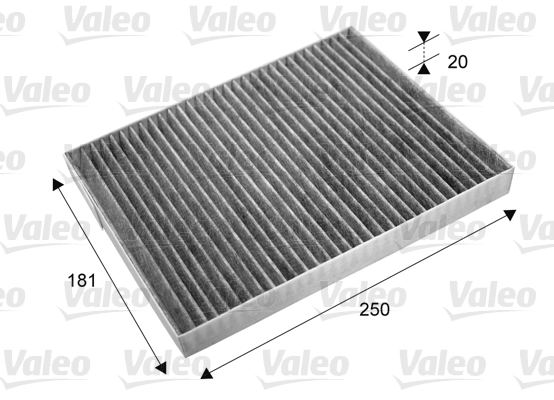 Filtre, air de l'habitacle - VALEO - 715667