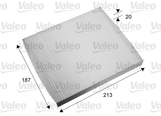 Filtre, air de l'habitacle - VALEO - 715668