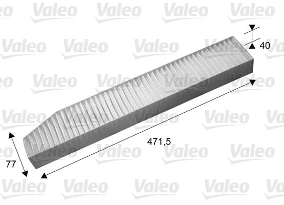 Filtre, air de l'habitacle - VALEO - 715670