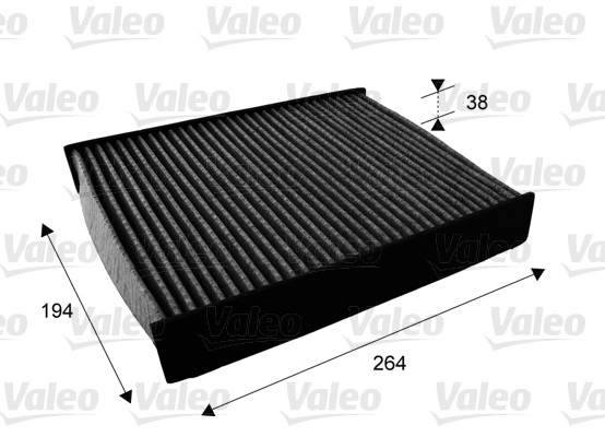Filtre, air de l'habitacle - VALEO - 715672