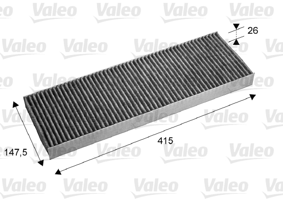 Filtre, air de l'habitacle - VALEO - 715675