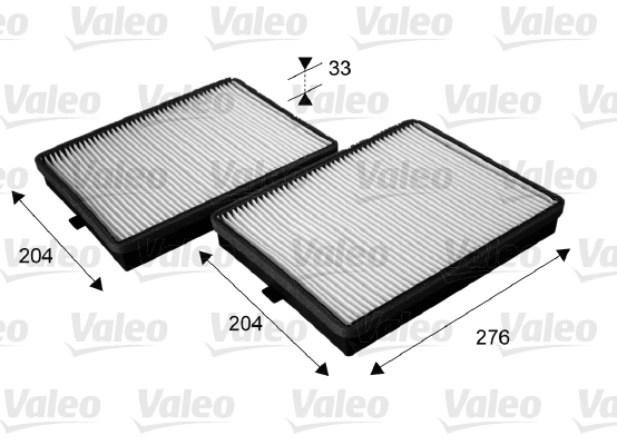 Filtre, air de l'habitacle - VALEO - 715685