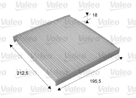 Filtre, air de l'habitacle - VALEO - 715689