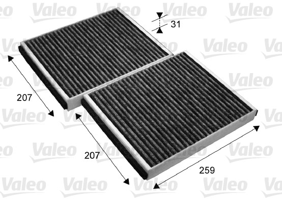 Filtre, air de l'habitacle - VALEO - 715690